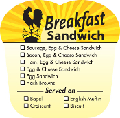 BREAKFAST LABELS